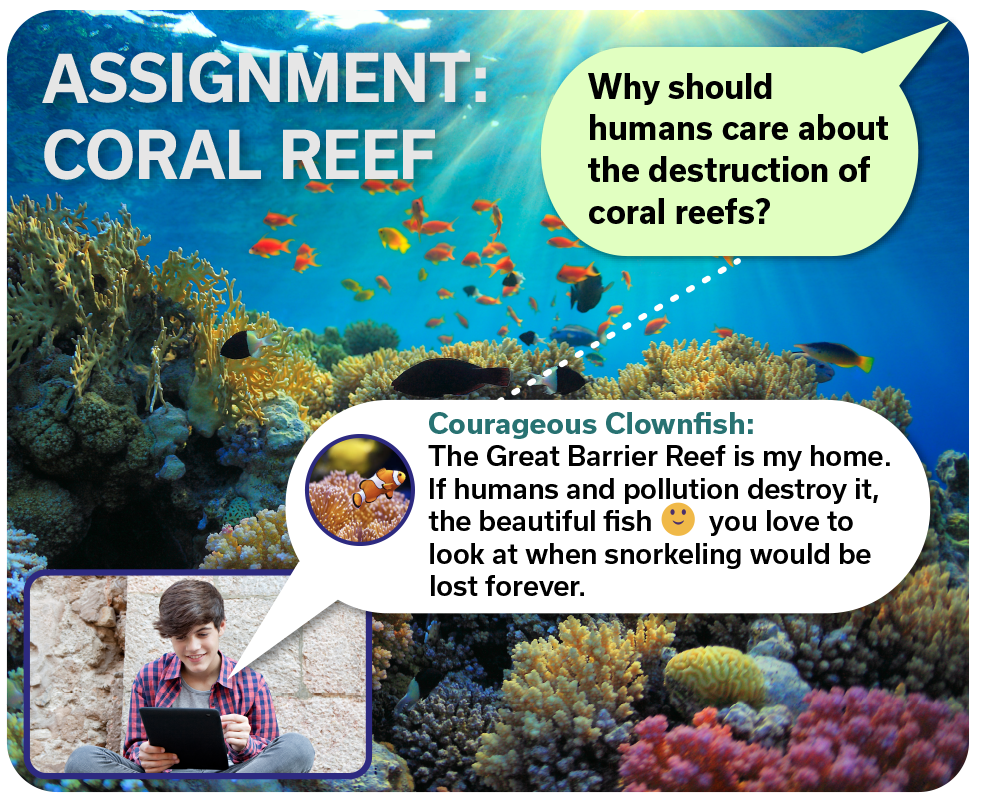 coral reef assignment screenshot